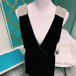 Dresses & Skirts - Black Velvet diamonds and pearls .. all you need L